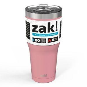 ZAK Insulated Tumbler Mug Pink Hot Cold NEW